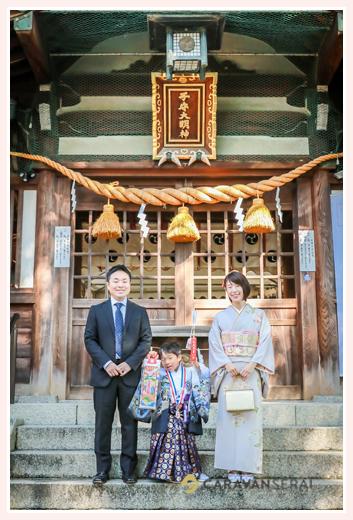 挙母神社で七五三写真の前撮り(愛知県豊田市)