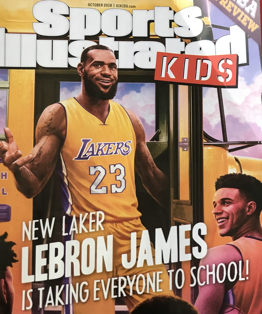 a5e88d78e4d NBA News  The most recent cover for Sports Illustrated Kids shows Lakers  teammates F LeBron James and G Lonzo Ball in ...