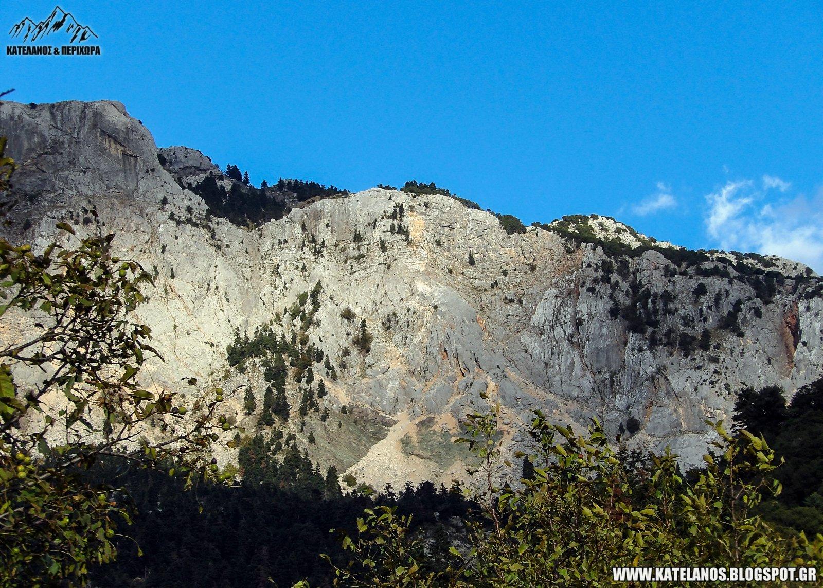 γκρεμός βραχώδες βουνό προφήτης ηλίας σκαλτίνας