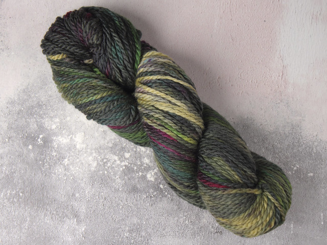 Misfits Sale: Awesome Aran – pure British superwash wool hand-dyed yarn 100g – 'Space Race'