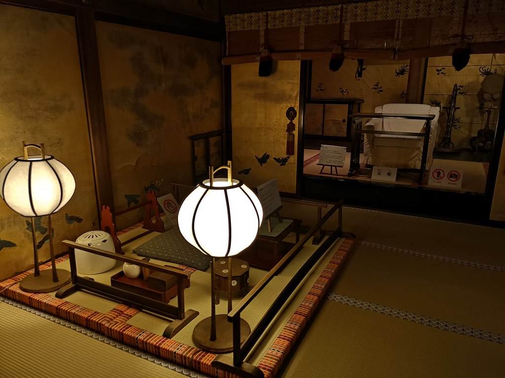 The imperial resting room in Dogo Onsen.