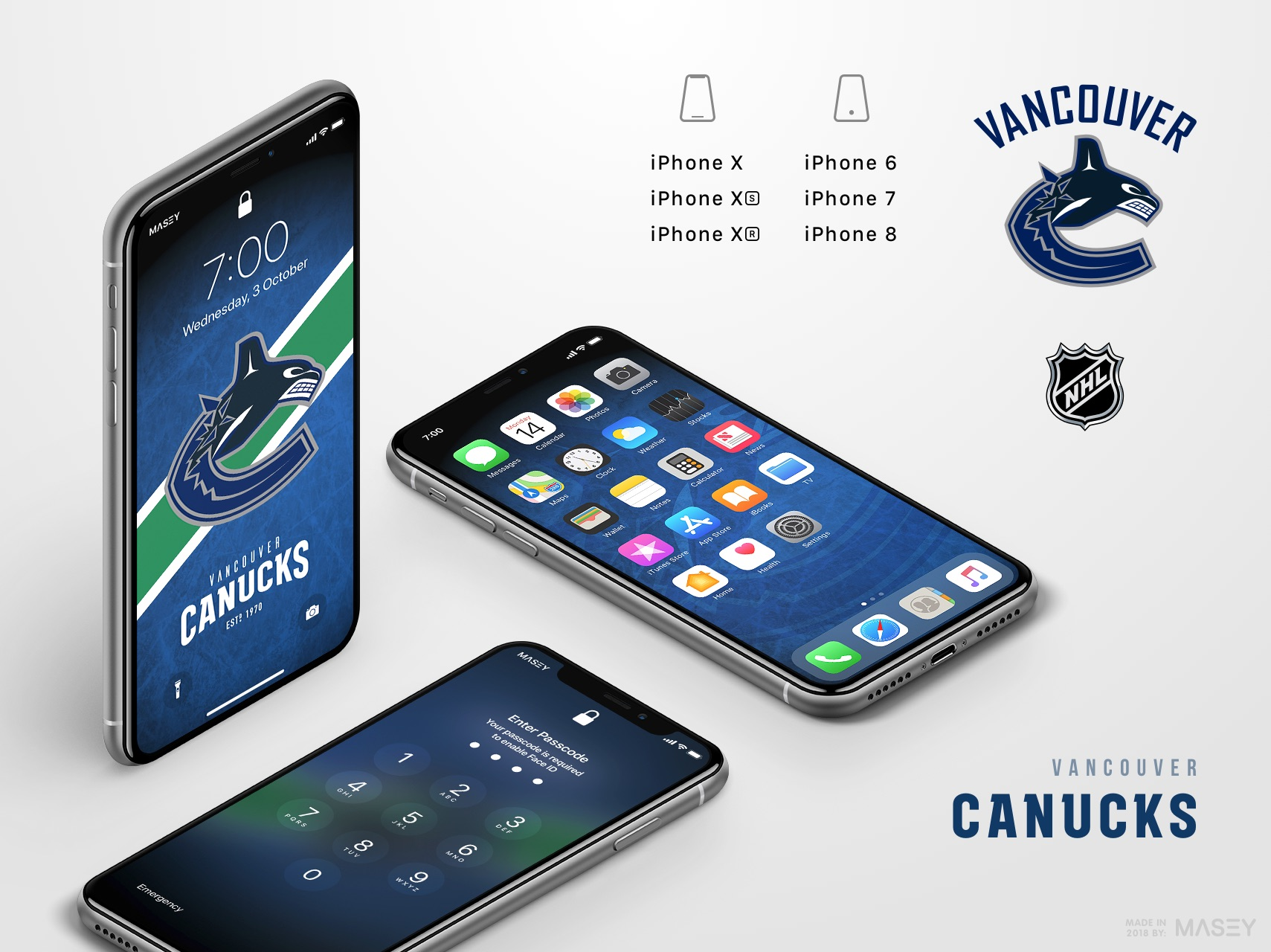 Vancouver Canucks iPhone Wallpaper