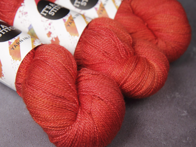 Brilliance Lace – British Bluefaced Leicester wool and silk hand-dyed yarn 100g – 'Magma'