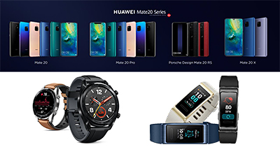 The Huawei Mate 20 Series. The Huawei Mate 20 X will not be available in Singapore.