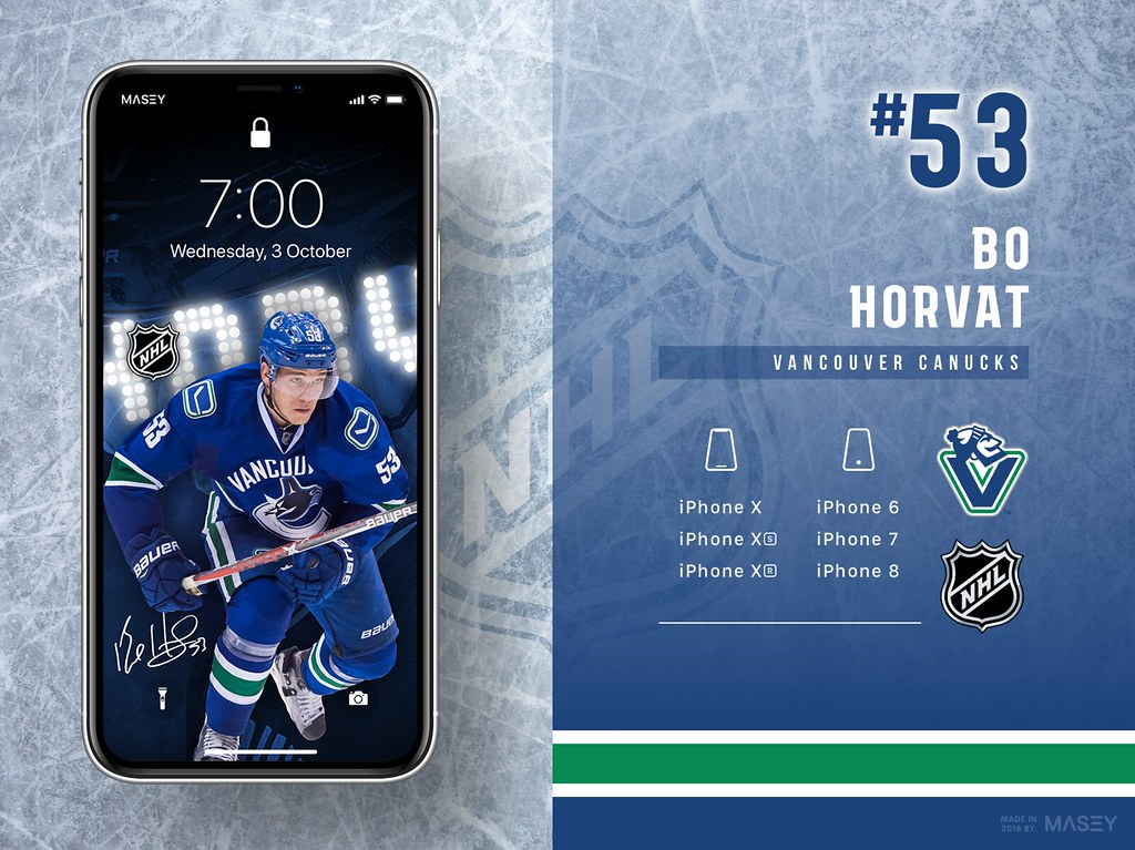 Bo Horvat (Vancouver Canucks) iPhone Wallpaper