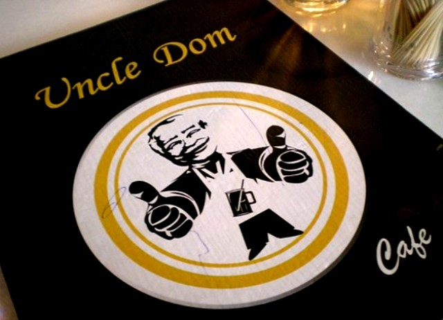 Uncle Dom Cafe menu