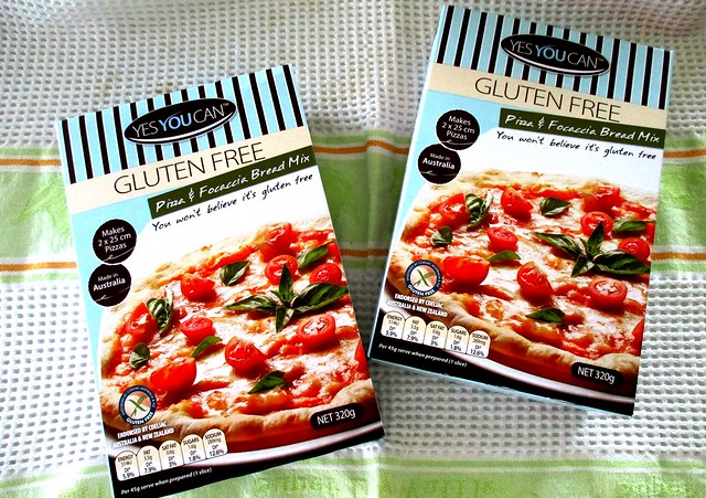 YESYOUCAN gluten-free pizza mix, two boxes