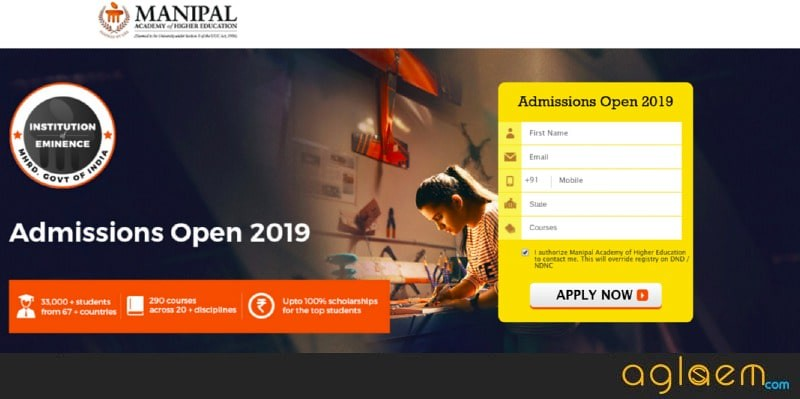 Manipal University Application Form 2019