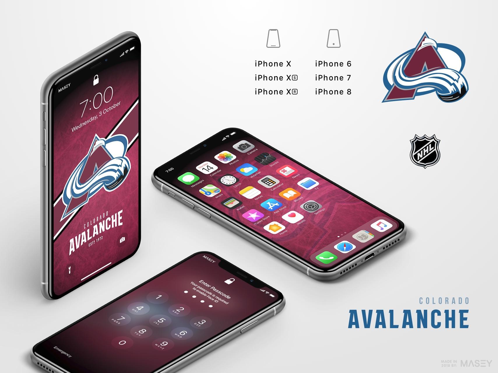 Colorado Avalanche iPhone Wallpaper