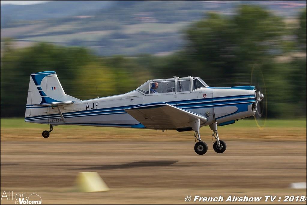 F-AZJO - Nord 3202 , Ailes et Volcans - Aérodrome d'Issoire - Le Broc , Cervolix 2018 & La Montagne , Canon EOS , Sigma France , contemporary lens , Meeting Aerien 2018