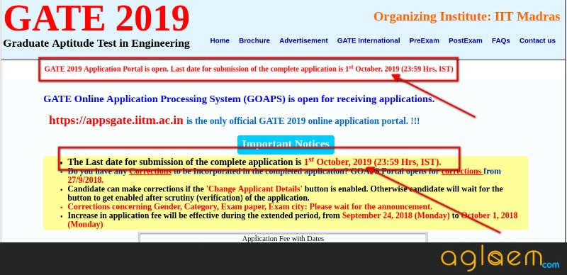 IIT M Giving 1 Year To Complete The GATE 2019 Application Process?