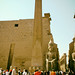 The entrance of Egypt's Luxor temple