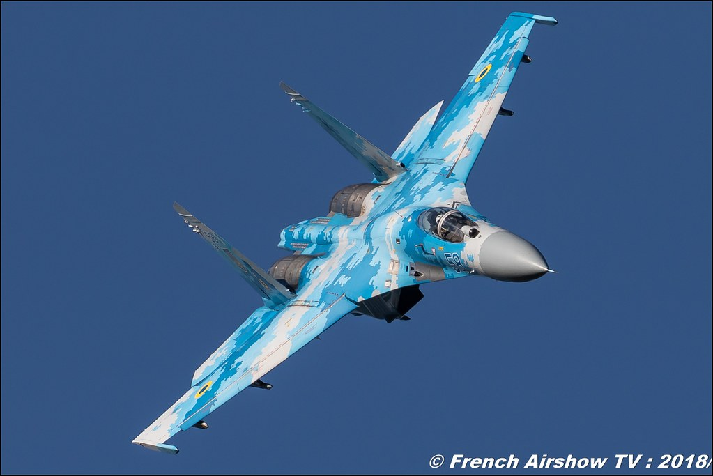 Su 27 Flanker Ukrainian Air Force display BAFDAYS Kleine-Brogel 2018 BELGIAN AIR FORCE DAYS 2018 BA Kleine Brogel Canon Sigma France contemporary lens Meeting Aerien 2018