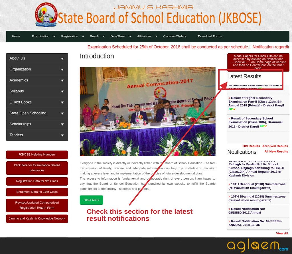 JKBOSE 10th Annual Result 2018 For Jammu Division Winter Zone