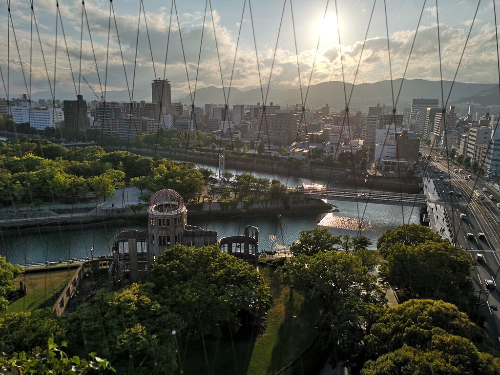 Capture the most beautiful views of Hiroshima city from the Orizuru Tower. The A-Bomb Dome can be seen clearly from here.