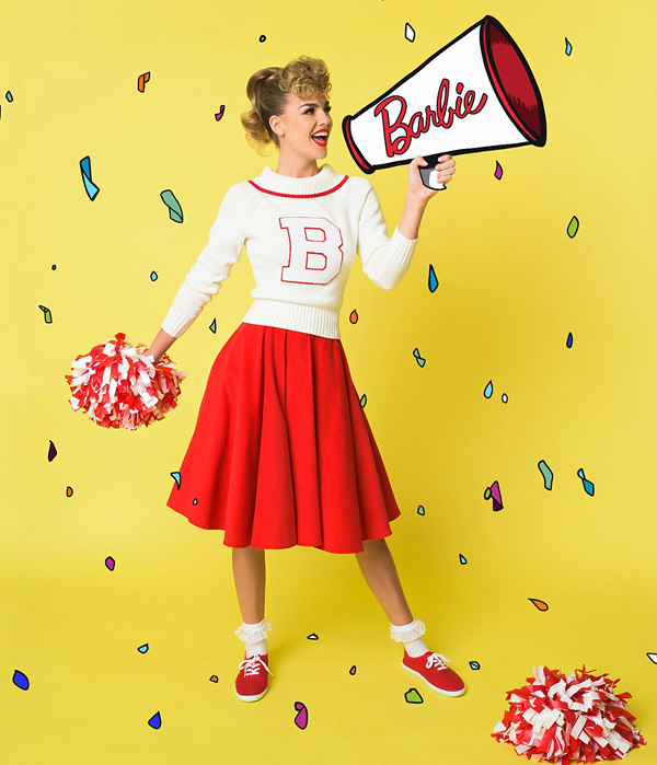 unique vintage barbie cheerleader