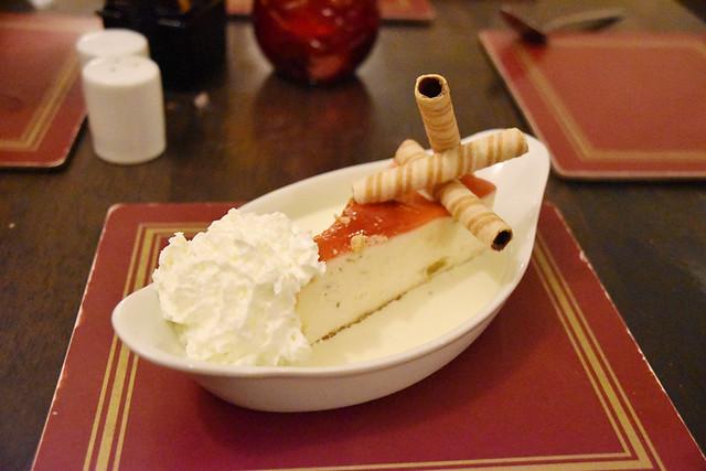 Rhubarb cheesecake, Crianlarich