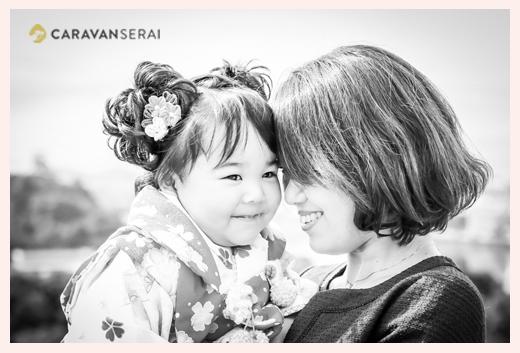 七五三 3歳の女の子とママ