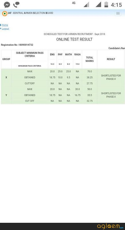 Airmen Score Card - Specimen Copy