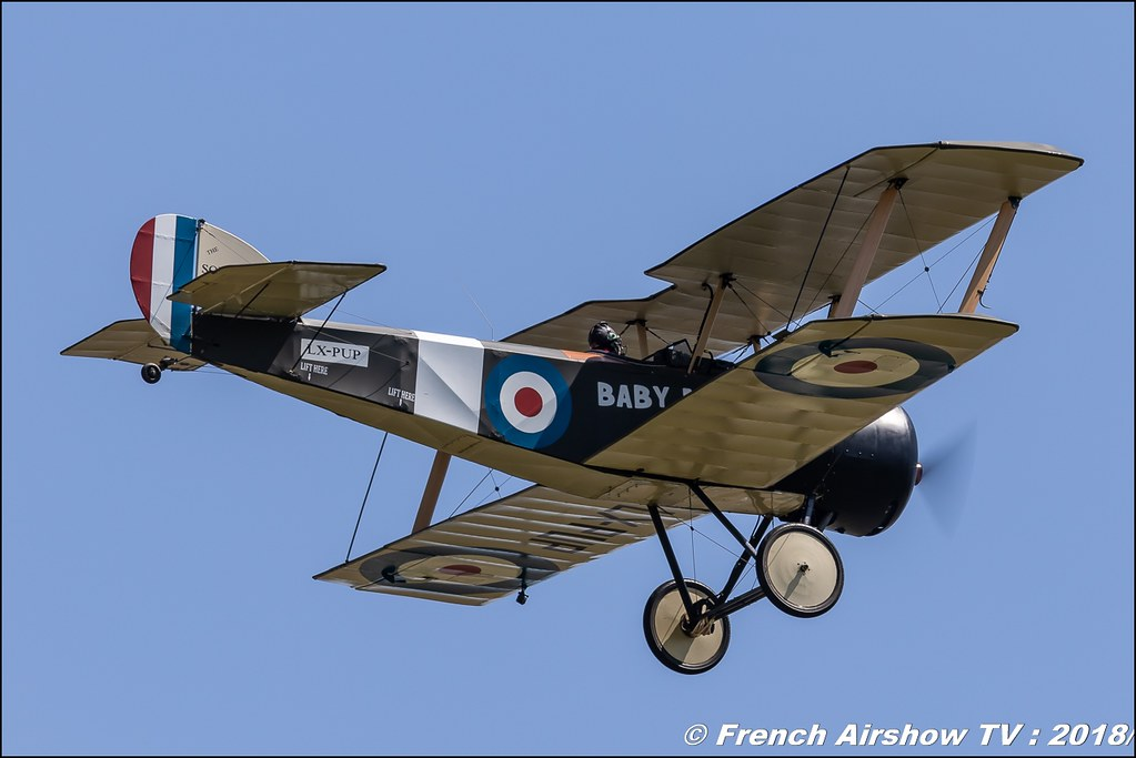 Sopwith Pup - LX-PUP Meeting de l Air BA-133 Nancy Ochey 2018 FOSA Armee de l Air Canon Sigma France contemporary lens Meeting Aerien 2018