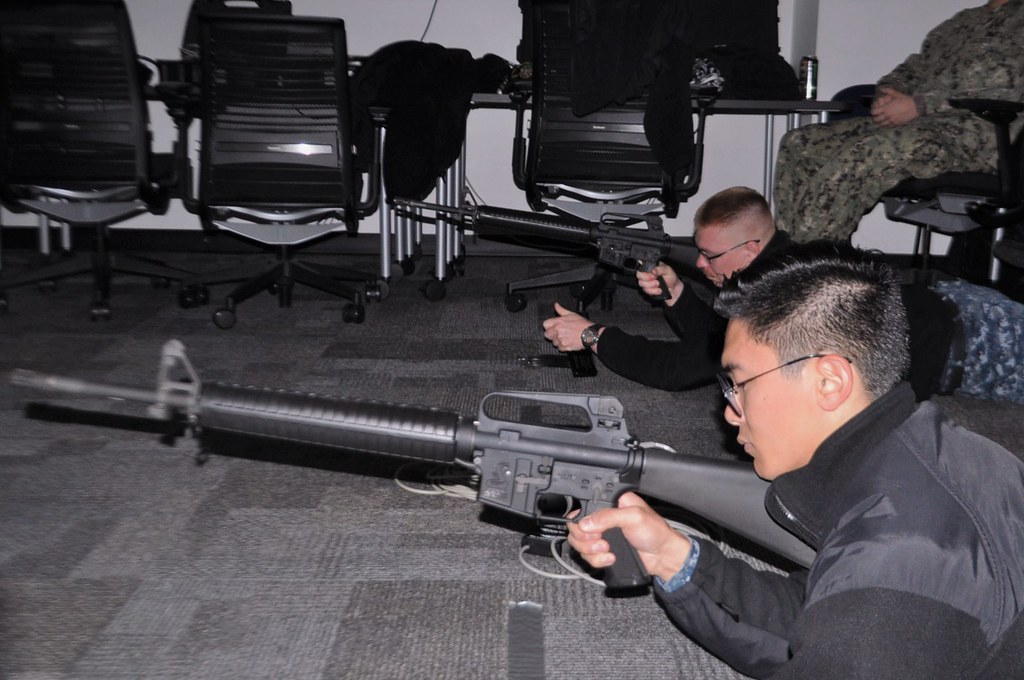 Afloat Training Group Pacific Northwest (ATGPNW) facilitated a Firearms Training Simulator (FATS) sustainment shoot on the 24th and 25th of October for Sailors stationed onboard USS Ralph Johnson (DDG 114).