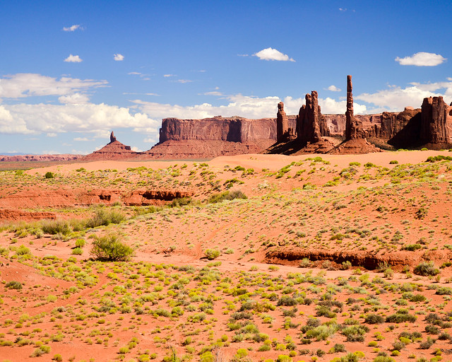 Totem Pole y las Sand Springs de Monument Valley