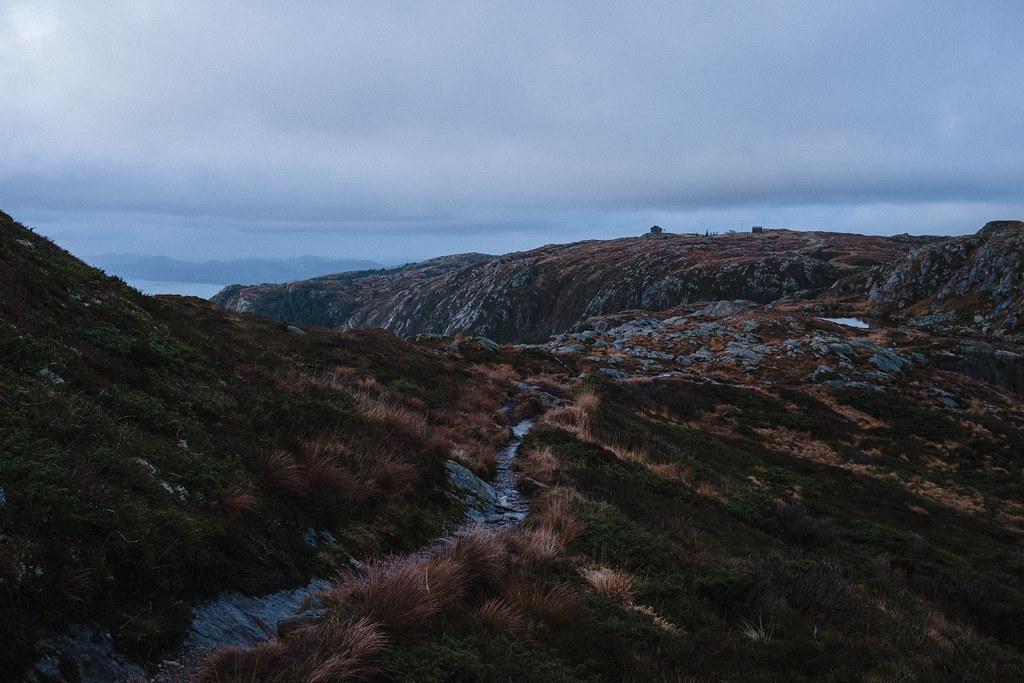 Mountain, autumn trail.