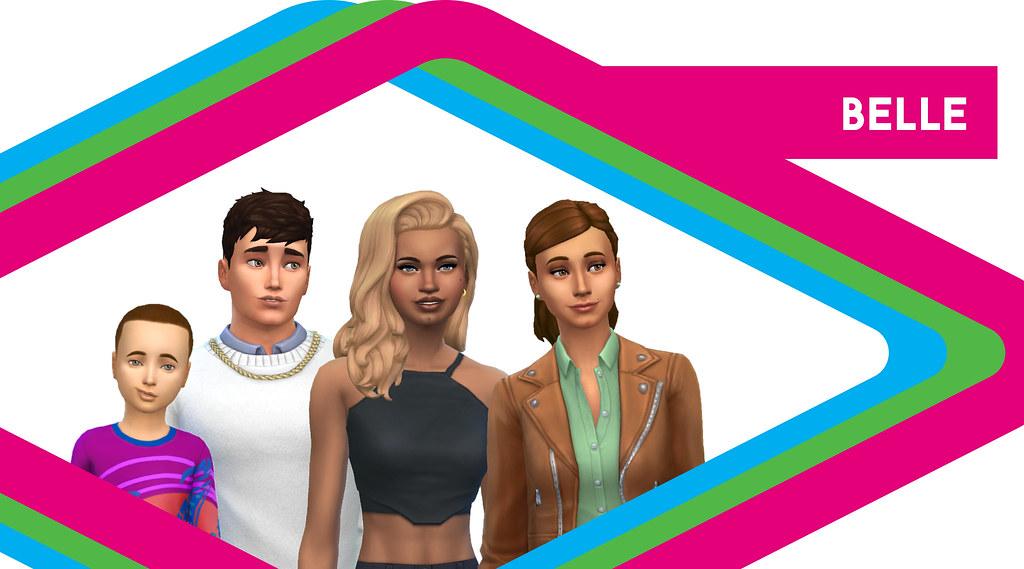 Sims de antaño: Los Belle