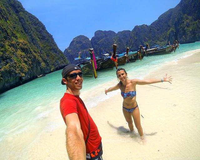 En Phiphi durante nuestro viaje de 15 días por Tailandia