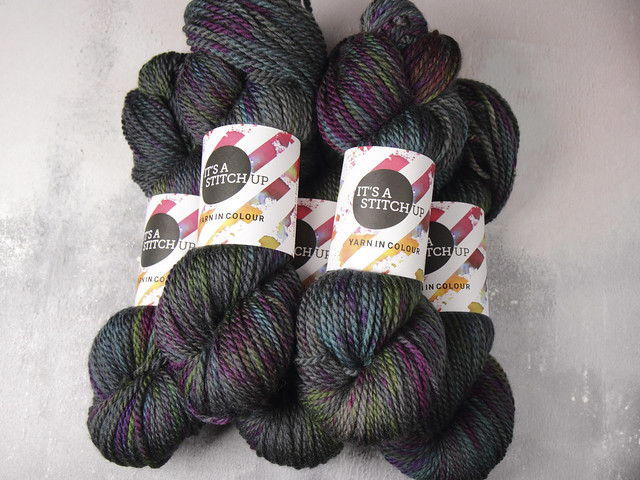 Awesome Aran – pure British superwash wool hand-dyed yarn 100g – 'Space Race'