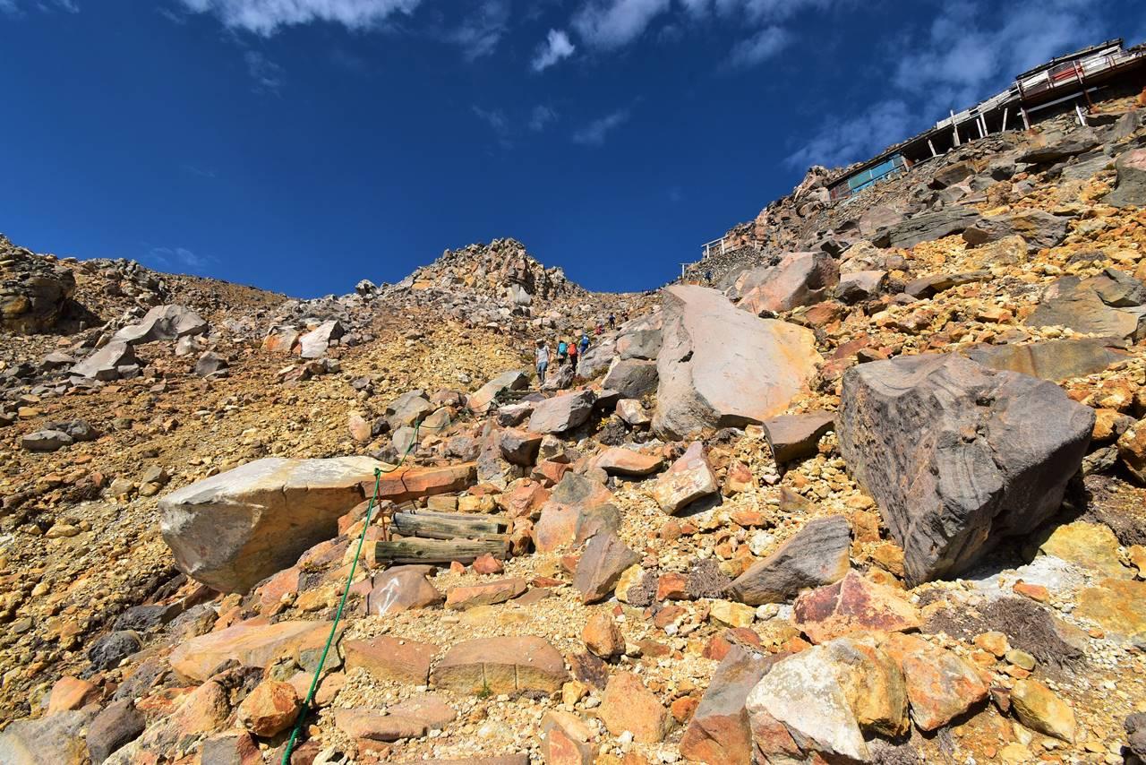 御嶽山 石室山荘から山頂へ