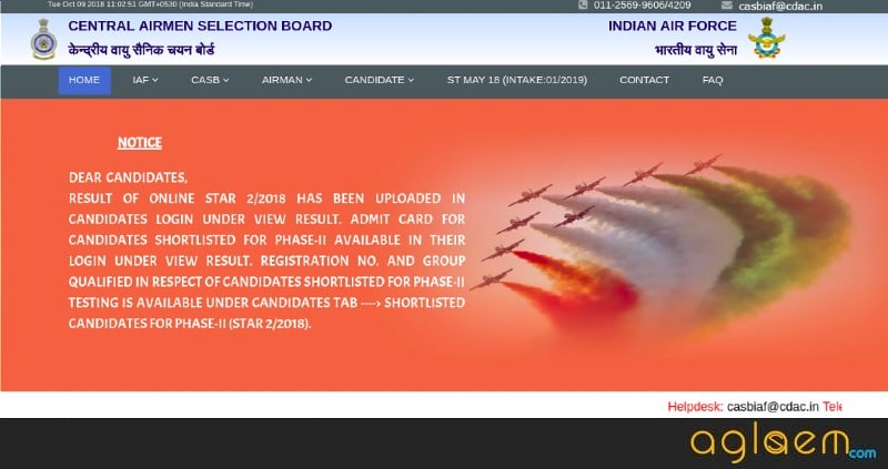 Indian Air Force Airmen Result 2019 for Group X and Y (Announced)   Check Here Airmen Selection List