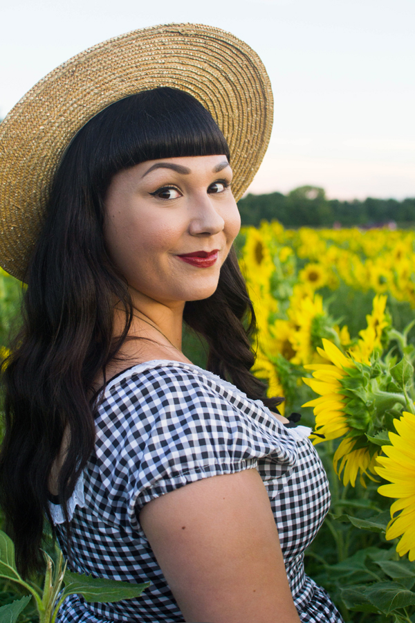 sunflowers and gingham