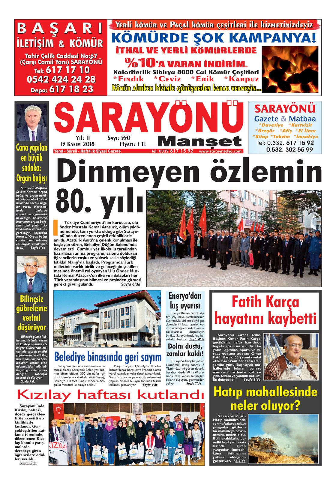 Sarayönü Manşet