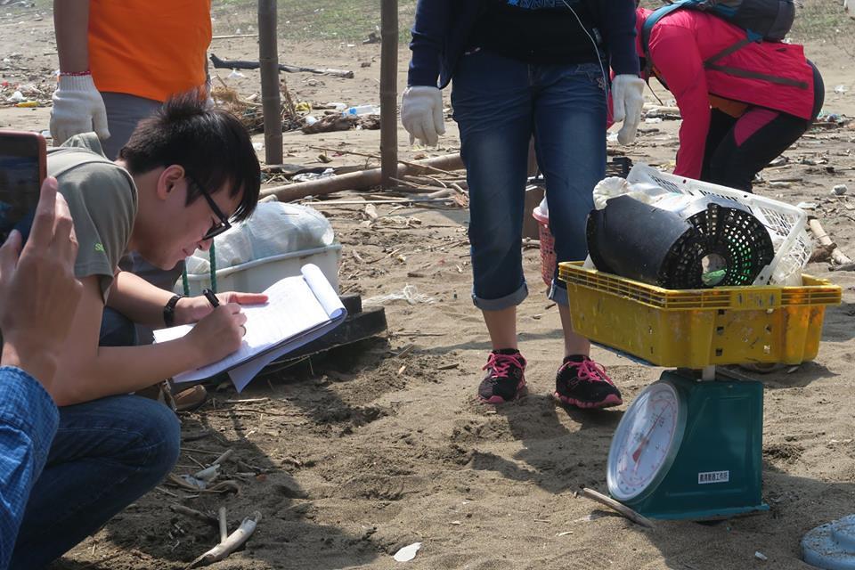 淨灘後ICC紀錄。圖片來源:荒野保護協會