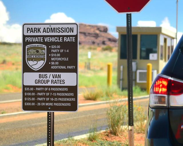 Entrada al Parque Nacional de los Navajos