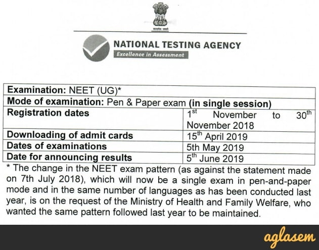 NEET 2019: Exam Date [5 May], Registration, Syllabus, Age, Changes, New Rules by NTA