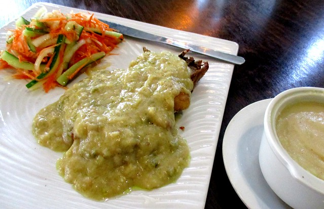 Payung Cafe chicken chop with mashed potato