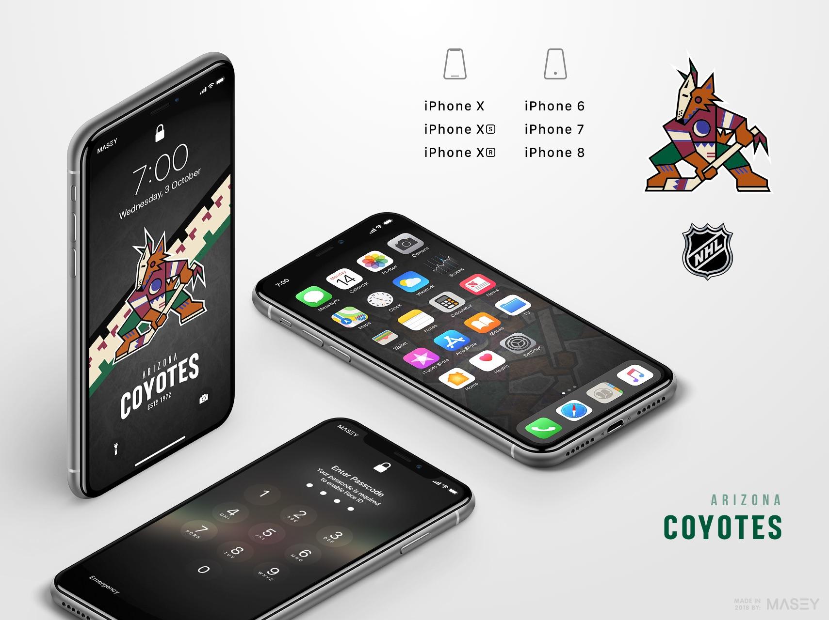 Arizona Coyotes iPhone Wallpaper