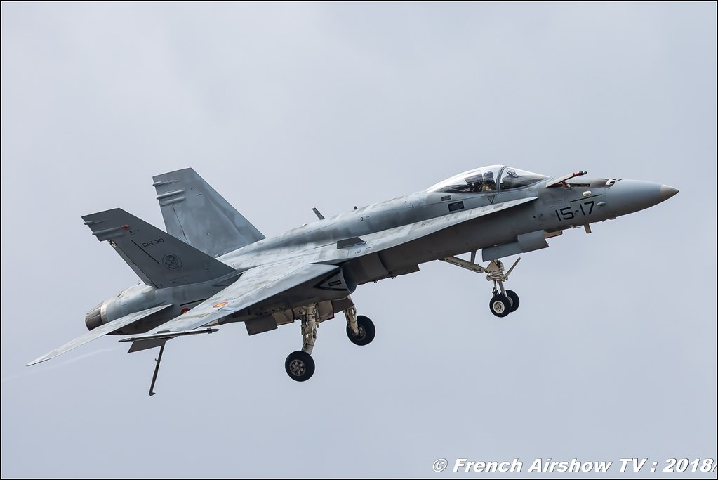 EF-18 Hornet de l'Ejército del Aire Solo Display BAFDAYS Kleine-Brogel 2018 BELGIAN AIR FORCE DAYS 2018 BA Kleine Brogel Canon Sigma France contemporary lens Meeting Aerien 2018