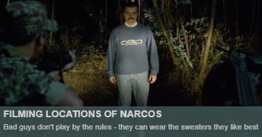 Where is narcos filmed
