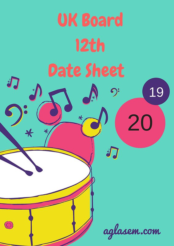 Uttarakhand Board 12th Date sheet 2019