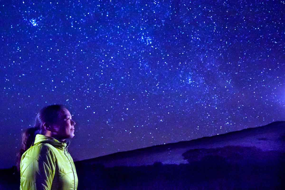 マウナケア山で星空観測