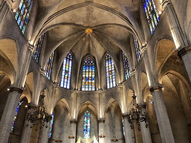 Interior de la Seu de Manresa (Barcelona)