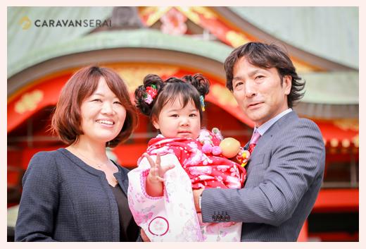 犬山・成田山で七五三ロケーションフォト♪家族写真