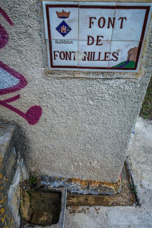 Font de Fontanilles en Olèrdola