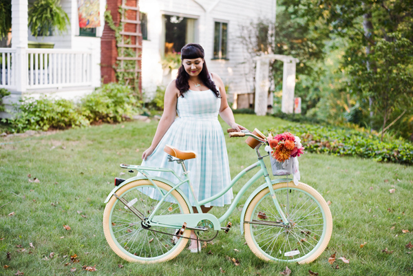mint green bicycle vintage
