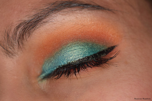 Blue Orange Eyeshadow Look
