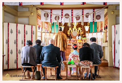 七五三のロケーションフォト 白山神社(岐阜県多治見市) ご祈祷