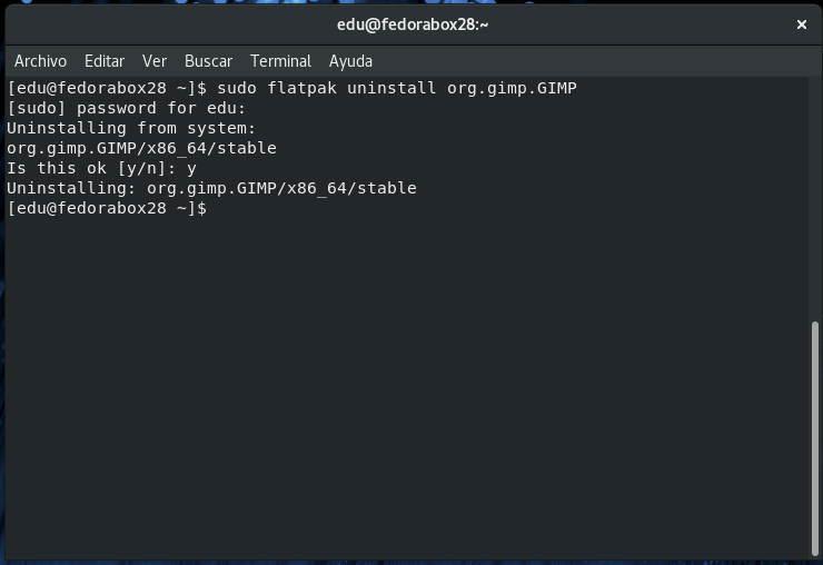 Desinstalando-GIMP-desde-Flatpak-en-Fedora-28
